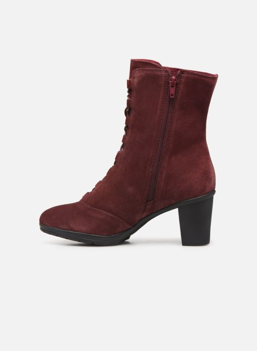 Ankle boots Scholl Mores C Burgundy front view