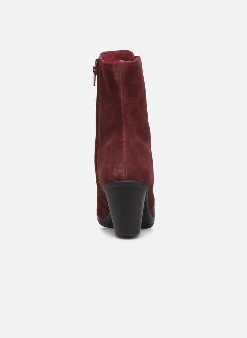 Ankle boots Scholl Mores C Burgundy view from the right
