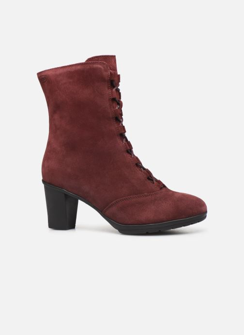 Ankle boots Scholl Mores C Burgundy back view