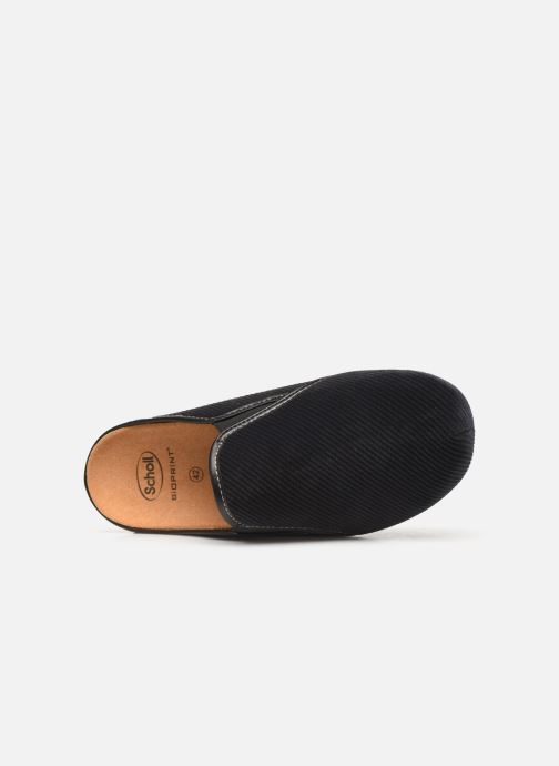 Slippers Scholl Felce C Black view from the left