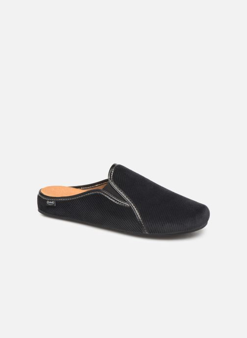 Slippers Scholl Felce C Black detailed view/ Pair view