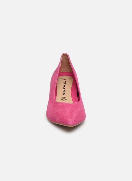 Escarpins Tamaris 22413 Rose vue portées chaussures