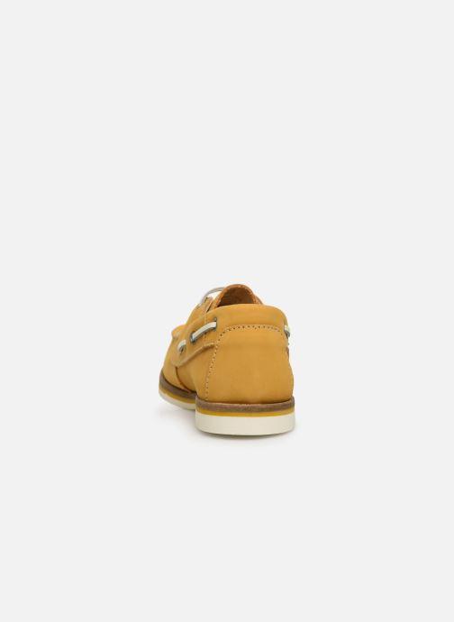 Zapatos con cordones Tamaris 23616 Amarillo vista lateral derecha