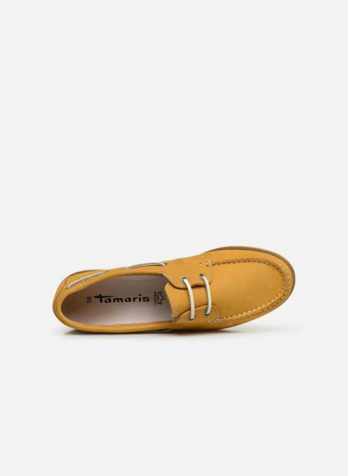 Zapatos con cordones Tamaris 23616 Amarillo vista lateral izquierda
