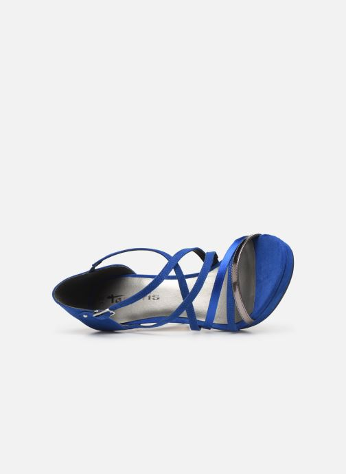 Sandalias Tamaris 28038 Azul vista lateral izquierda