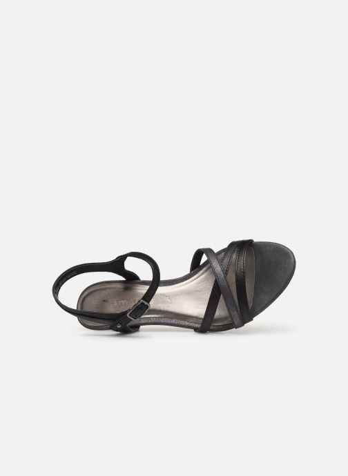 Sandalen Tamaris 28053 schwarz ansicht von links