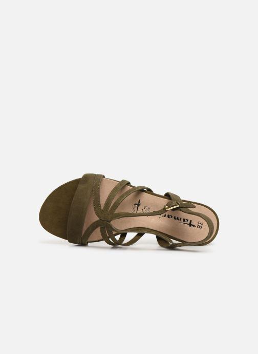 Sandales et nu-pieds Tamaris 28177 Vert vue gauche