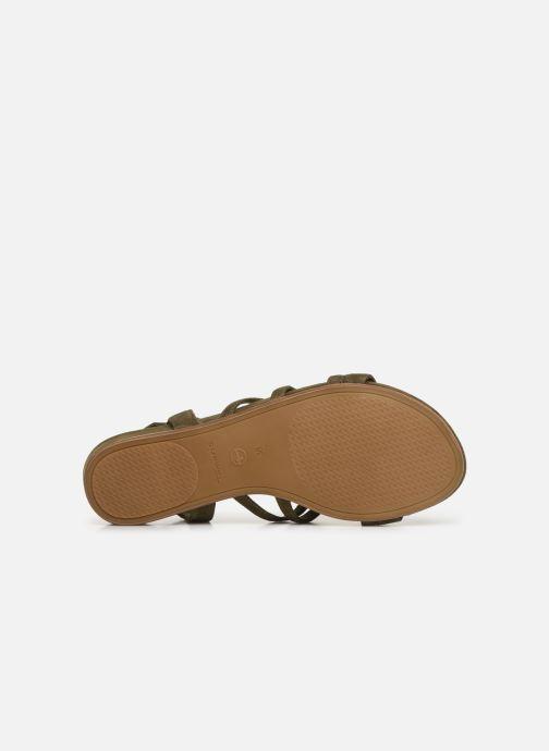Sandales et nu-pieds Tamaris 28177 Vert vue haut