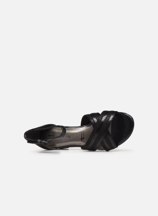 Sandales et nu-pieds Tamaris 28258 Noir vue gauche