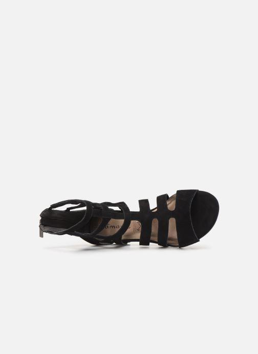 Sandales et nu-pieds Tamaris 28259 Noir vue gauche