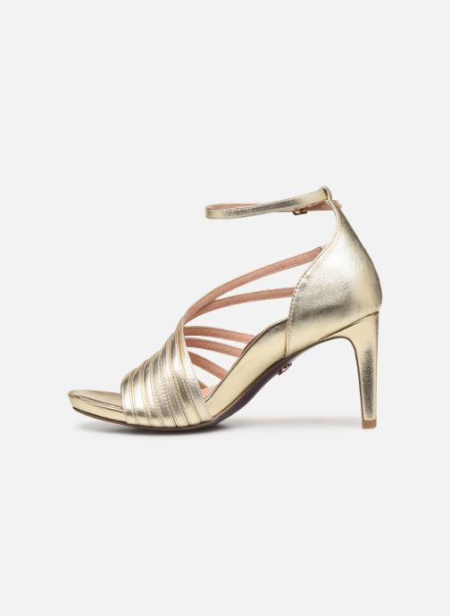 Sandales et nu-pieds Tamaris 28303 Or et bronze vue face