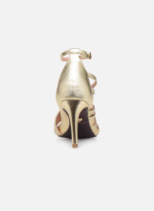 Sandales et nu-pieds Tamaris 28303 Or et bronze vue droite