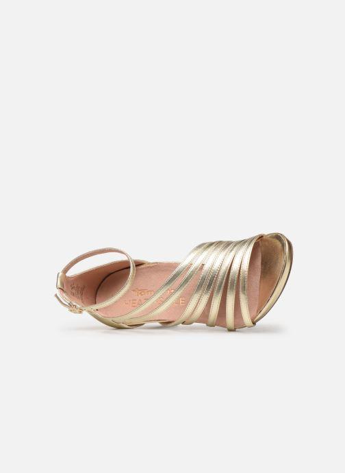 Sandales et nu-pieds Tamaris 28303 Or et bronze vue gauche