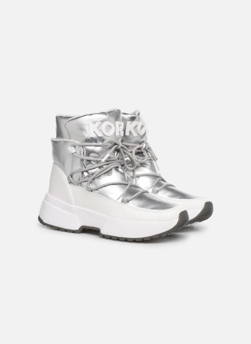 Sneakers Michael Michael Kors Cassia Bootie Argento immagine 3/4