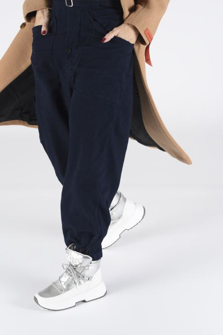 Sneakers Michael Michael Kors Cassia Bootie Argento immagine dal basso