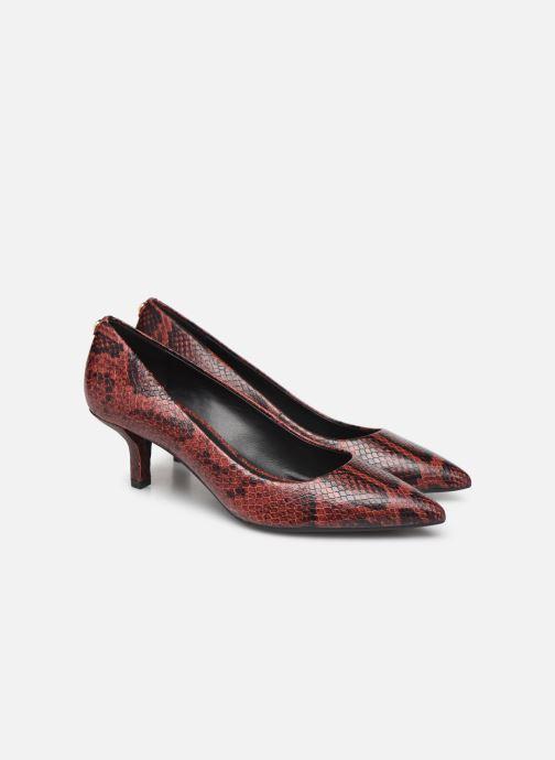 Zapatos de tacón Michael Michael Kors Katerina Flex Kitten Pump Vino vista 3/4