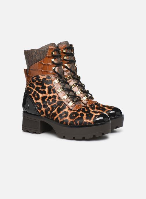Bottines et boots Michael Michael Kors Khloe Lace up bootie Marron vue 3/4