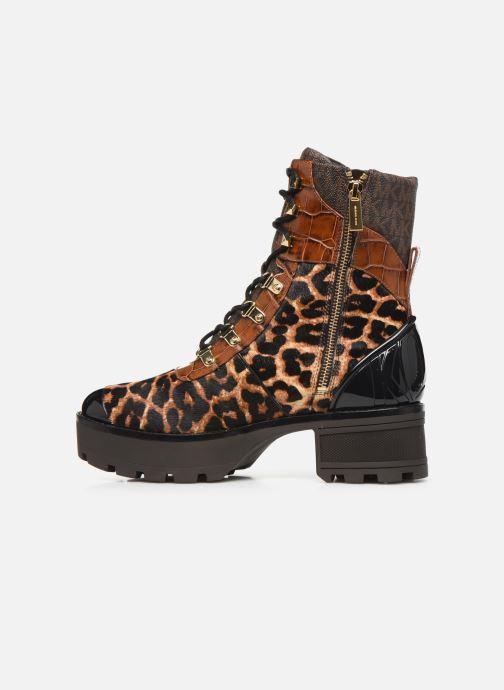 Boots en enkellaarsjes Michael Michael Kors Khloe Lace up bootie Bruin voorkant
