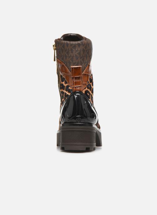 Boots en enkellaarsjes Michael Michael Kors Khloe Lace up bootie Bruin rechts