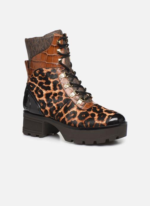 Bottines et boots Michael Michael Kors Khloe Lace up bootie Marron vue détail/paire