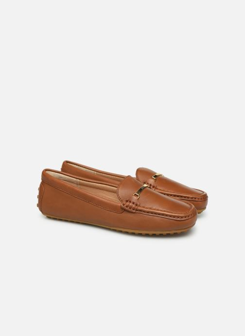Loafers Lauren Ralph Lauren Briony Flats Brown 3/4 view