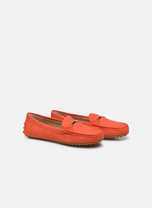 Mocassins Lauren Ralph Lauren Briony Flats Orange vue 3/4
