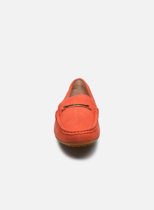 Mocassins Lauren Ralph Lauren Briony Flats Orange vue portées chaussures