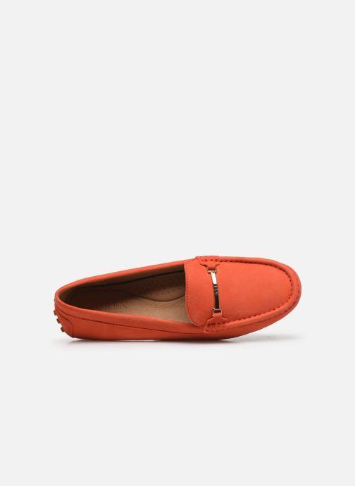 Mocassins Lauren Ralph Lauren Briony Flats Orange vue gauche