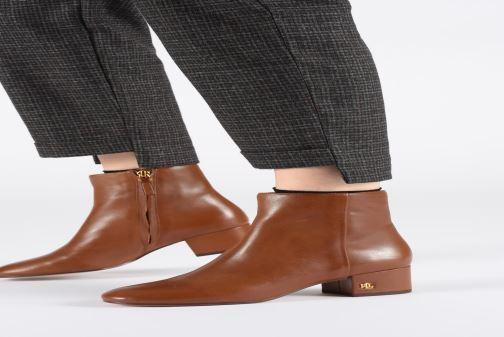 Bottines et boots Lauren Ralph Lauren Welford Boots Marron vue bas / vue portée sac