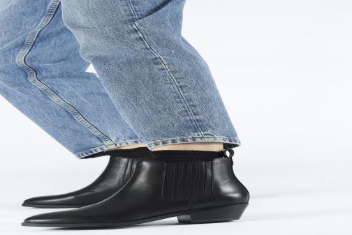 Bottines et boots Lauren Ralph Lauren Ericka Boots BL Noir vue bas / vue portée sac