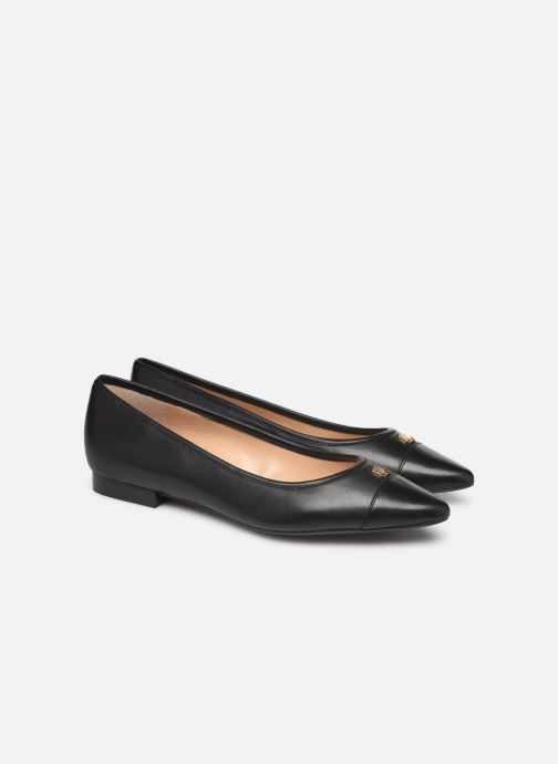 Ballet pumps Lauren Ralph Lauren Halena Black 3/4 view