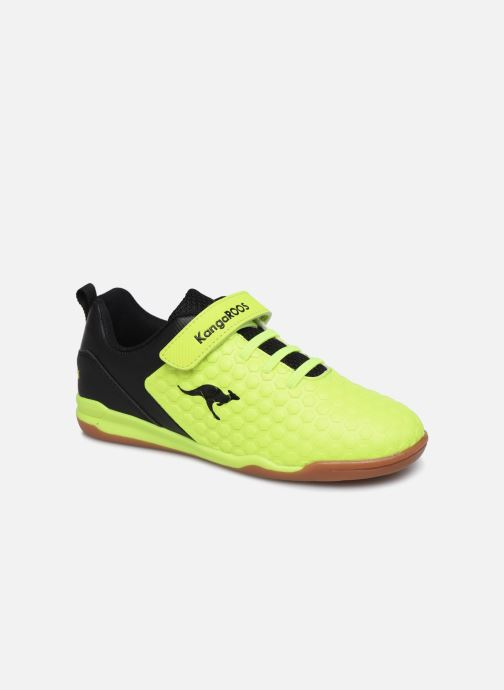 Baskets Kangaroos Speed Court EV Jaune vue détail/paire