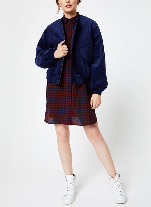 Vêtements Louche KETSIA GINGHAM Bordeaux vue bas / vue portée sac