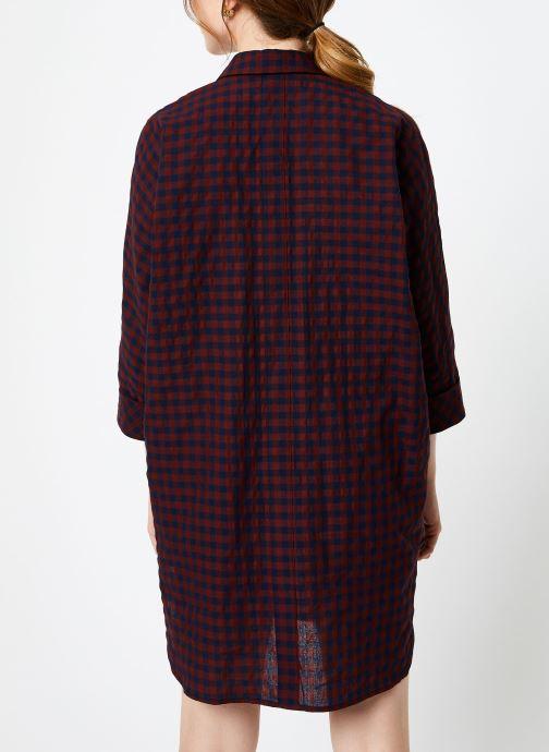 Vêtements Louche KETSIA GINGHAM Bordeaux vue face