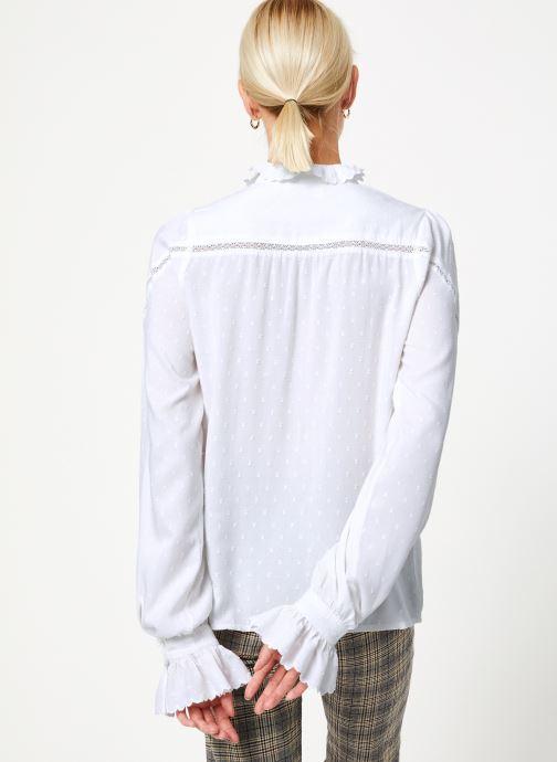 Vêtements Louche HAMA Blanc vue portées chaussures