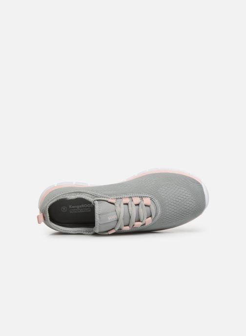 Sneaker Kangaroos K-Run Neo C grau ansicht von links