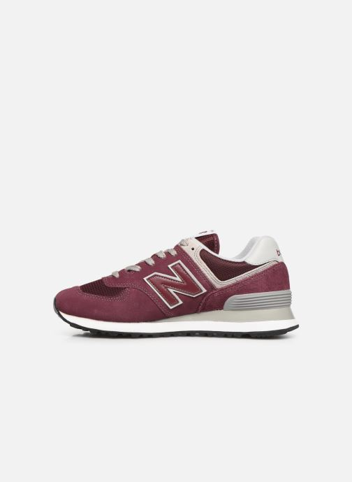 Sneakers New Balance WL574 B Bordeaux voorkant
