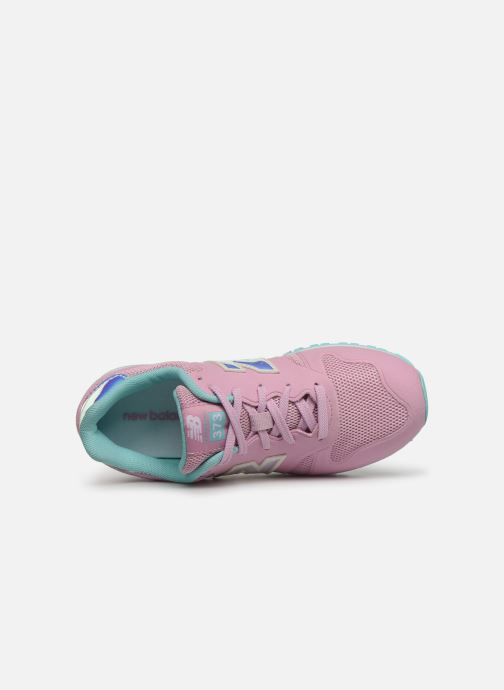 Trainers New Balance YR373 M Pink view from the left