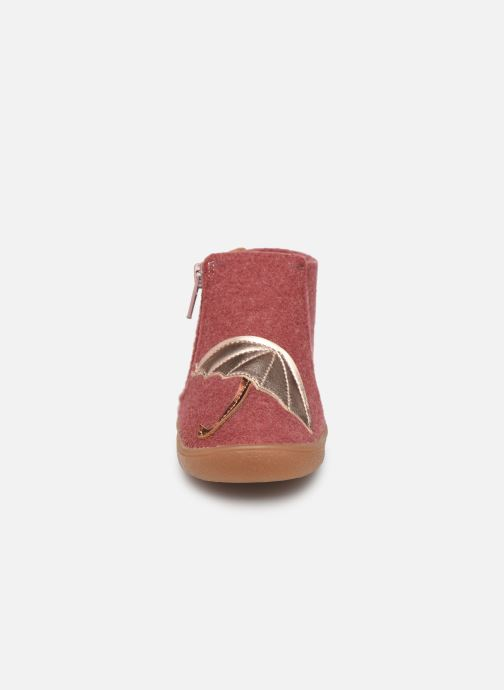 Chaussons Babybotte Marie Rose vue portées chaussures