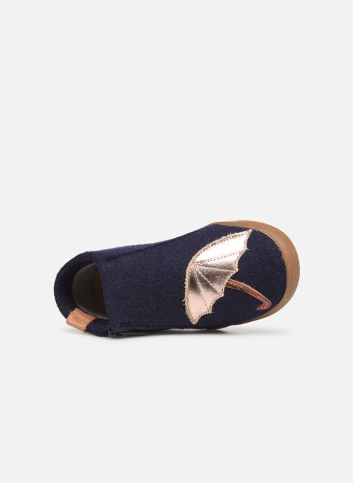 Slippers Babybotte Marie Blue view from the left