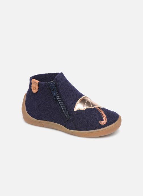 Hjemmesko Babybotte Marie Blå detaljeret billede af skoene