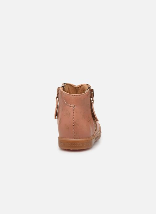 Ankle boots Babybotte Alouest Pink view from the right