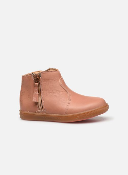 Ankle boots Babybotte Alouest Pink back view