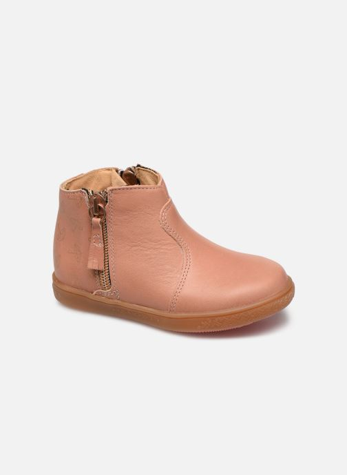 Ankle boots Babybotte Alouest Pink detailed view/ Pair view