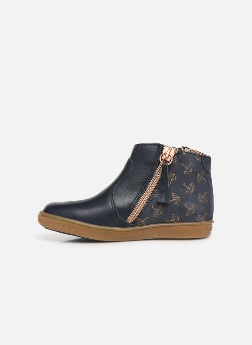 Ankle boots Babybotte Alouest Blue front view