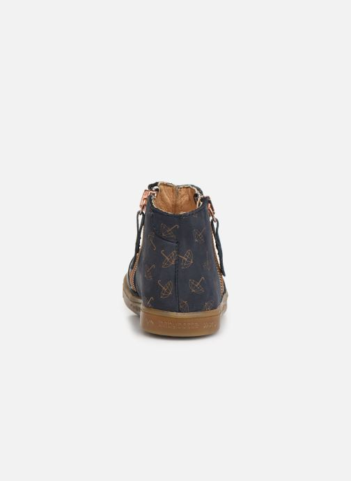 Ankle boots Babybotte Alouest Blue view from the right
