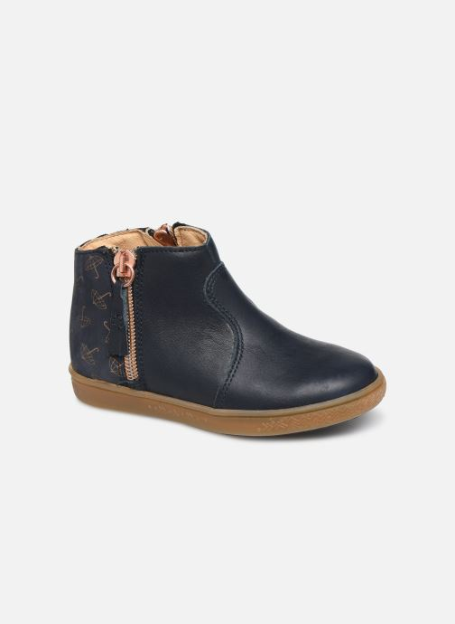 Ankle boots Babybotte Alouest Blue detailed view/ Pair view