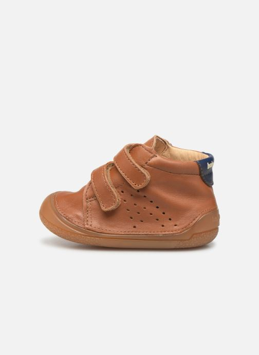 Chaussons Babybotte Zoupy Marron vue face