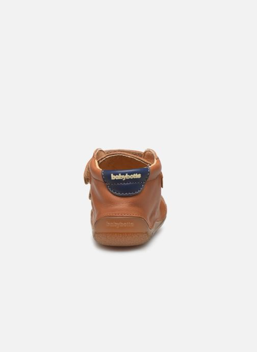 Slippers Babybotte Zoupy Brown view from the right