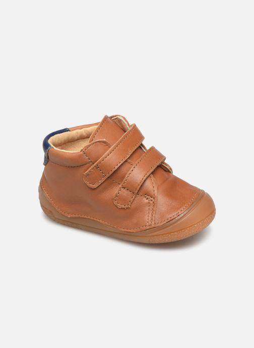 Hjemmesko Babybotte Zoupy Brun detaljeret billede af skoene